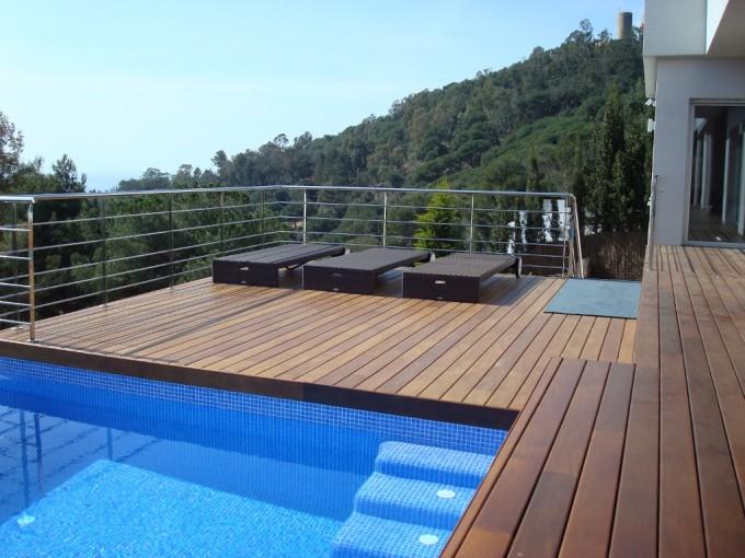 Tarimas de madera para exteriores piscinas y jardines - Suelos piscinas exteriores ...